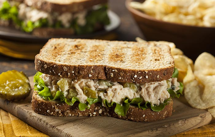 Healthy Sandwiches For Weight loss - Tuna Salad Toast