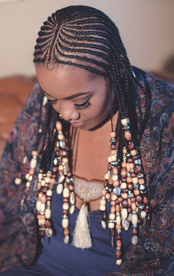 41 cute and chic cornrow braids hairstyles feed in beaded braids urmus Images
