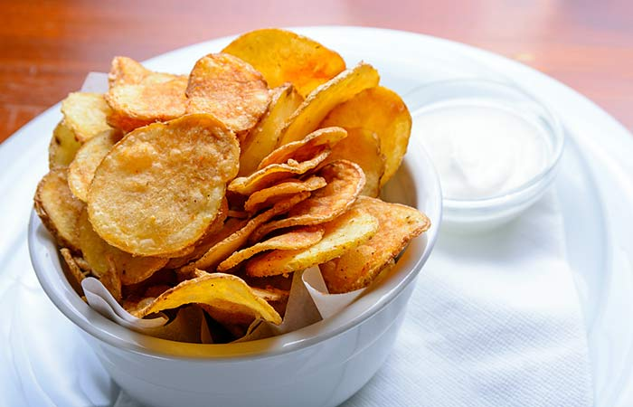 Light Food Recipes - Homemade Sweet Potato Crisps
