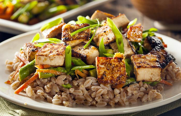 Light Food Recipes - High Fiber Tofu Rice