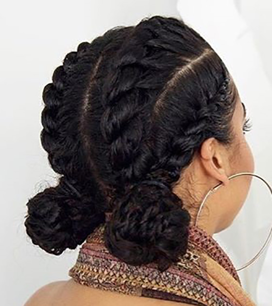 17.-Cutesy-Cornrow-Double-Buns