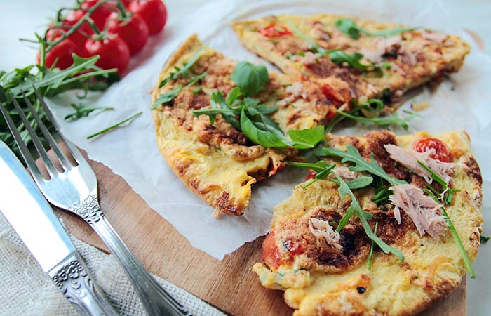 Light Food Recipes - Proteinaceous Tuna & Veggie Omelet