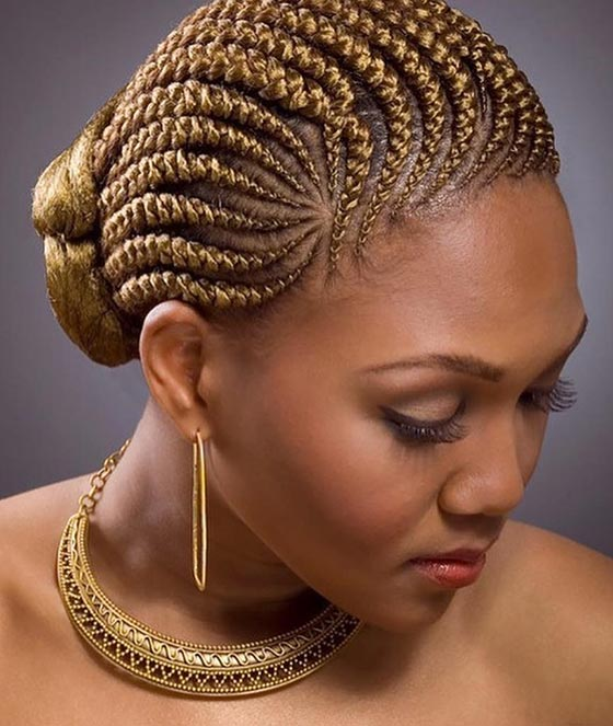 34.-Golden-Blonde-Cornrows-Bun