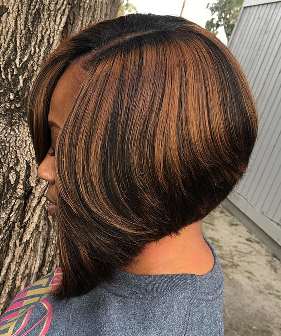 A-line-Bob-With-Chocolate-Brown-Highlights