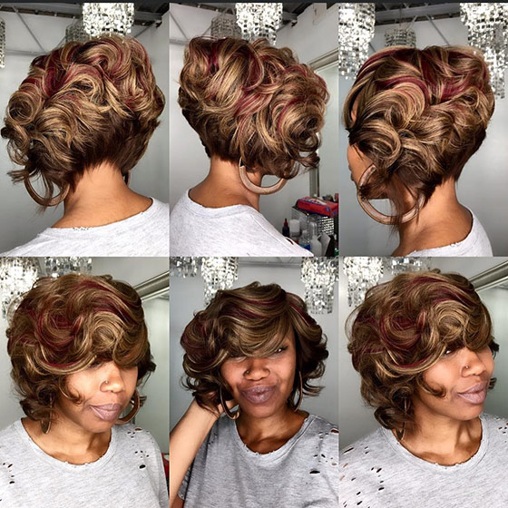 Golden-Brown-And-Maroon-Short-Bob
