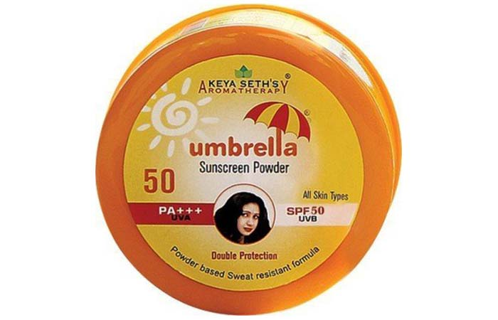 Keya Seth's Aromatherapy Umbrella Sunscreen Powder (SPF 50)