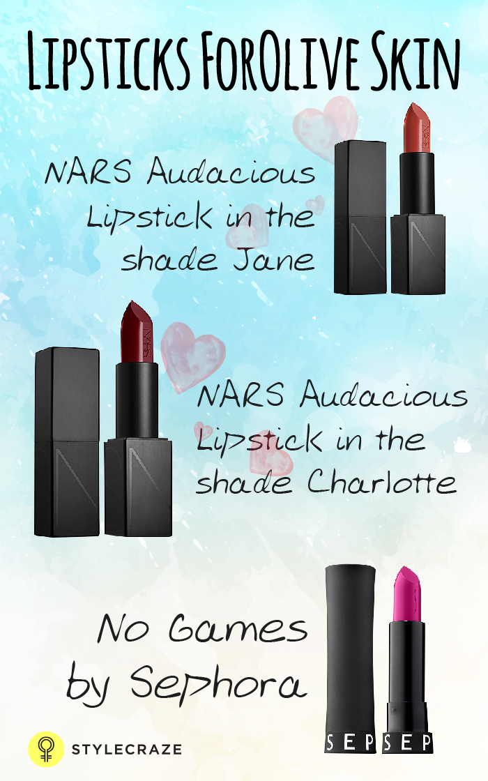 Lipsticks For Olive Skin