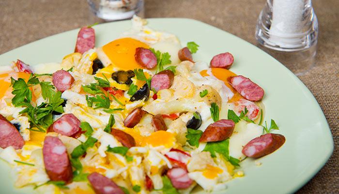 Sausage Vegetable And Egg Scramble