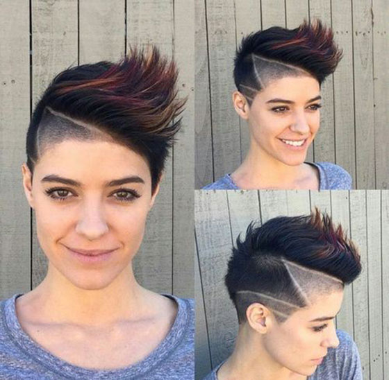 Side Mohawk Spikes