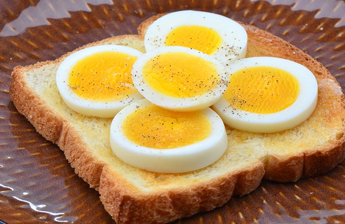 Spicy Boiled Egg & Toast