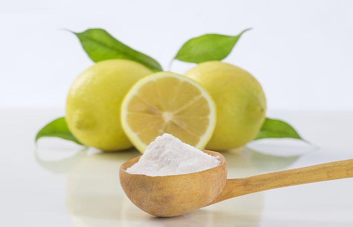 1. Baking Soda And Lemon Juice For Dark Spots