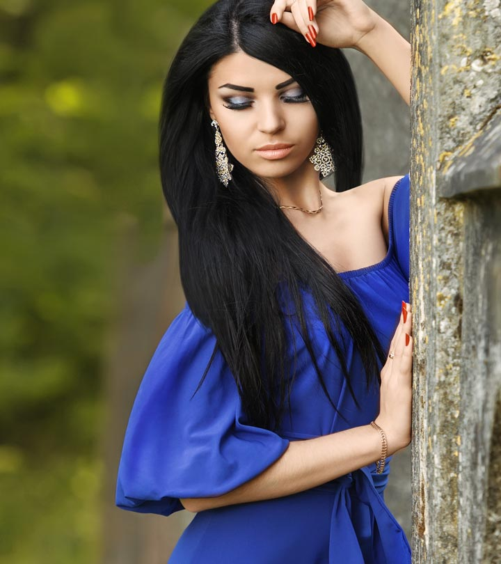 Slate blue dress complementary colors
