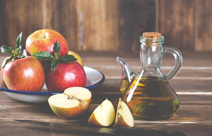 Bicarbonato de sódio e vinagre de maçã