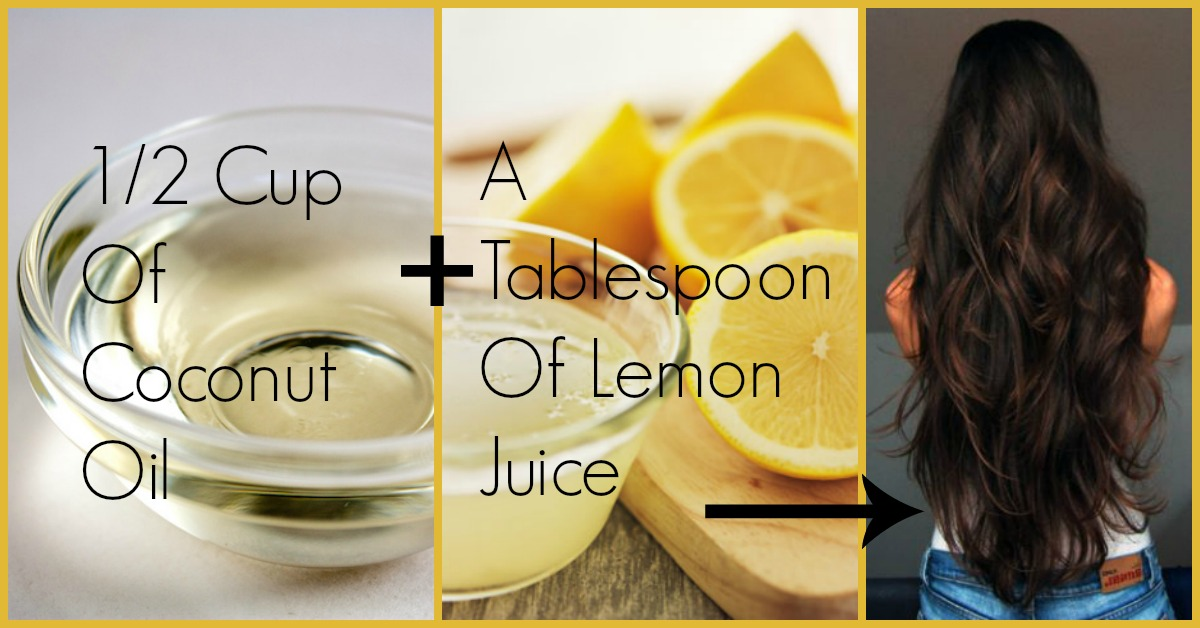 Coconut Oil And Lemon Juice For Hair Growth