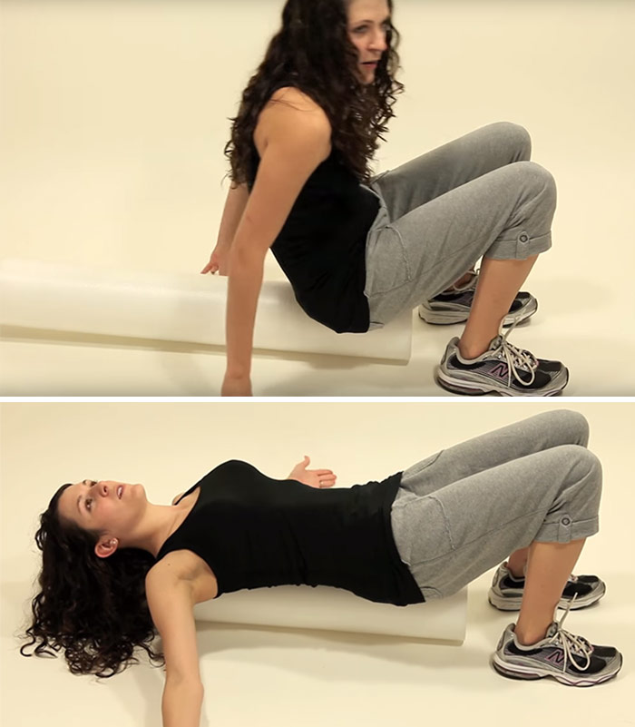 Foam Roller Pec Stretch