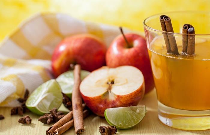 3. Apple Cider Vinegar And Cinnamon