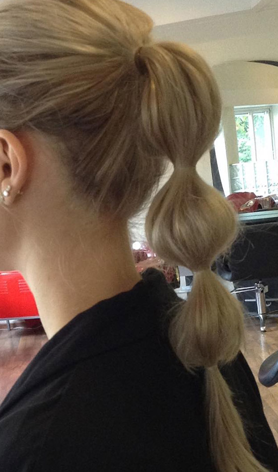 Add a bump and more bumps with a bubble ponytail!