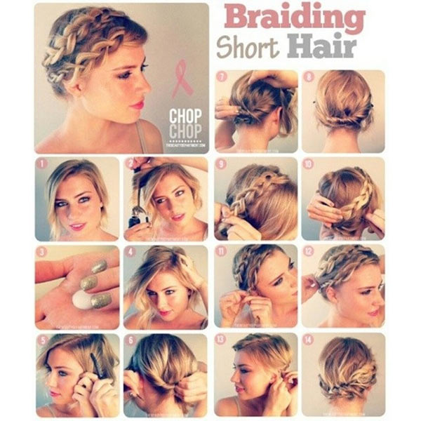 Braided Crown For Short Hair