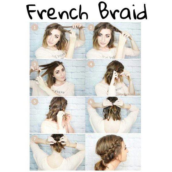 French Braid For Short Hair