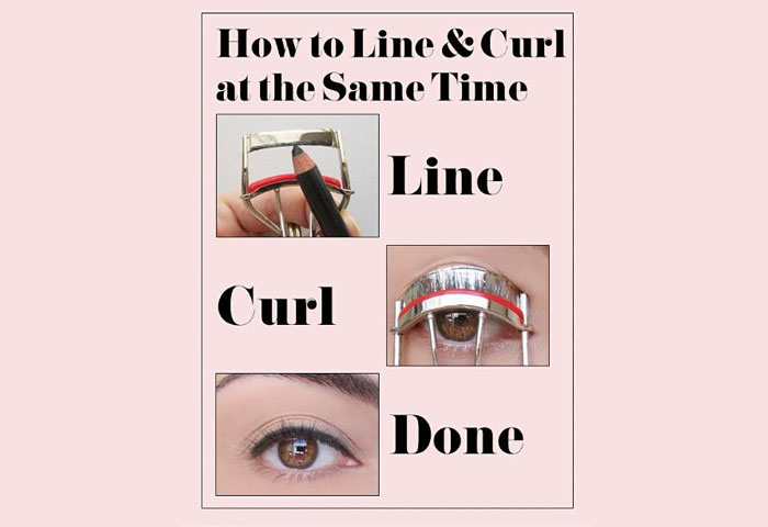 Line Your Eyes As You Curl