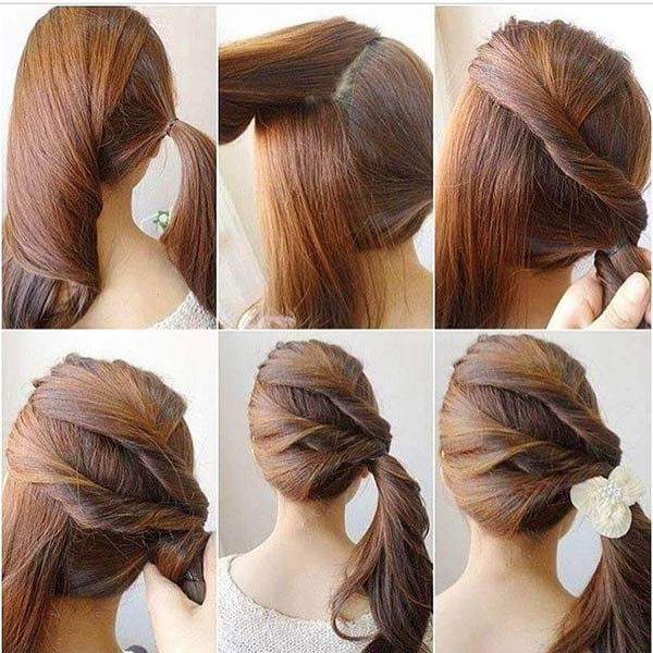 Roped Side Ponytail