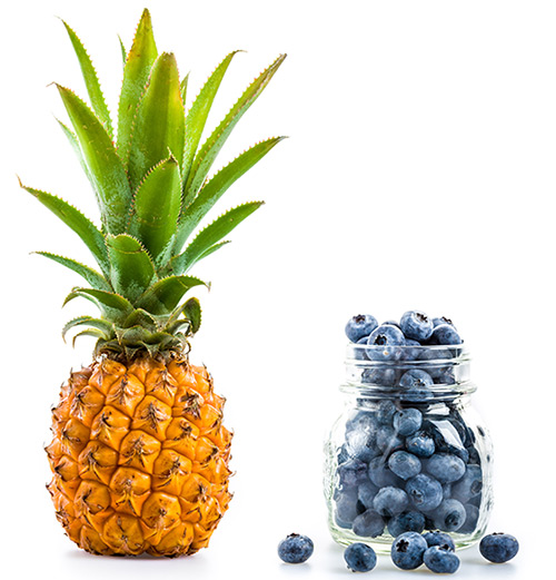 Blueberries And Pineapple
