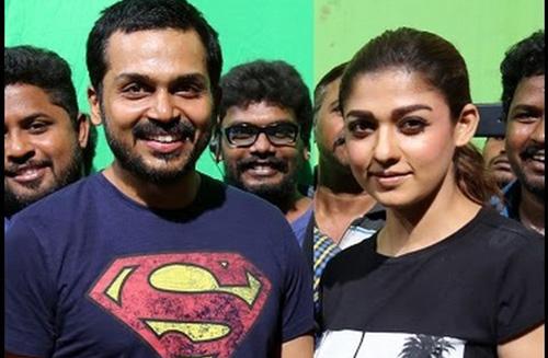 Karthi and Nayanthara Without Makeup - The Always Fab Look