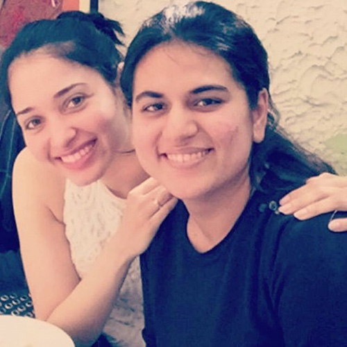 Tamanna's No Makeup Face with Her Friend