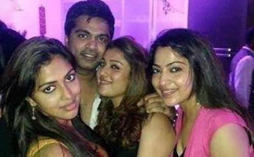 Simbhu and Nayanthara Without Makeup - The Party Rocker Look