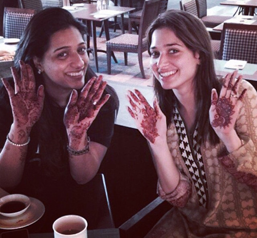 Tamanna with Mehandi at Her Friend's Marriage