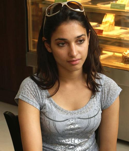 Tamanna in a coffee shop
