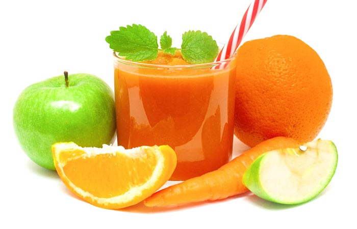 Fruits And Carrot Juice