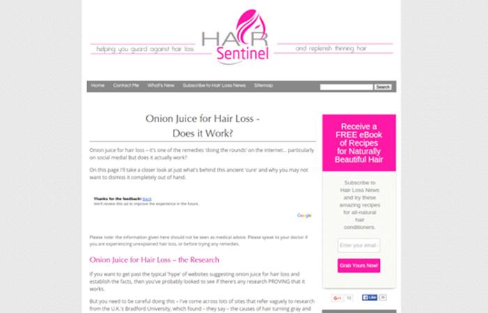 Hair Sentinel