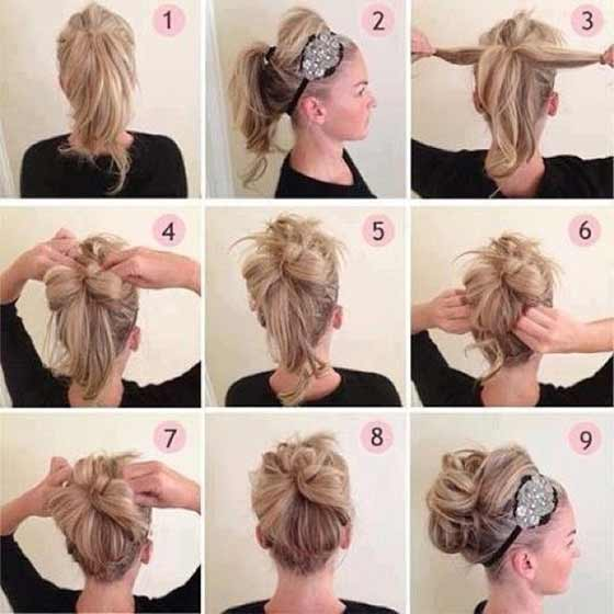 Casual-High-Updo-With-Headband