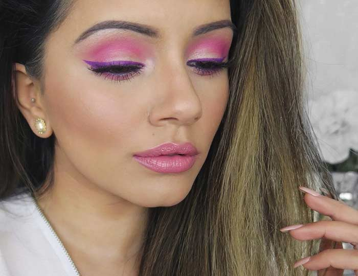 Hot Pink Eye Makeup To Make Your Hazel Eyes Pop