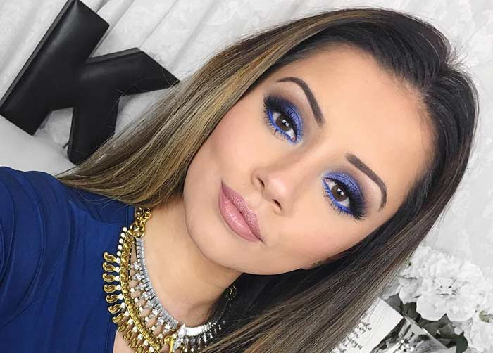 Royal Blue Eye Makeup To Make Your Hazel Eyes Pop