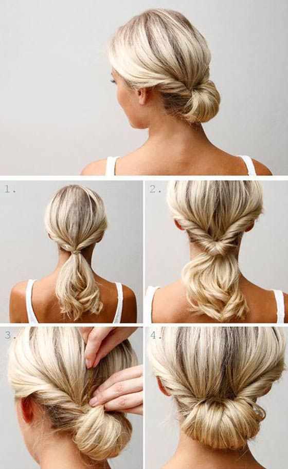 Top Hairstyles For Women With Thick Hair - Hairstyle chignon bun