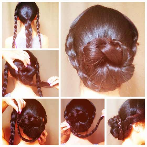 Twisted-Braided-Bun
