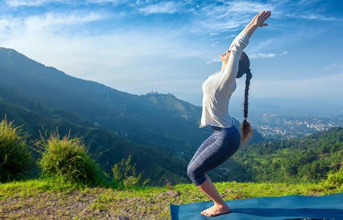 Yoga For Thighs And Hips - Utkatasana
