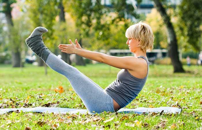 Yoga For Thighs And Hips - Navasana