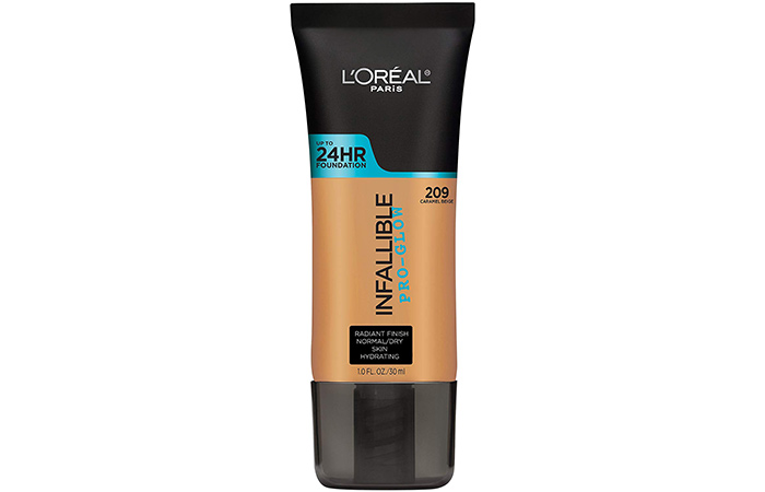 5. L'Oreal Infallible Pro-Glow Foundation