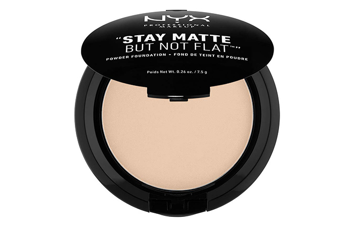 6. NYX Stay Matte But Not Flat Powder Foundation