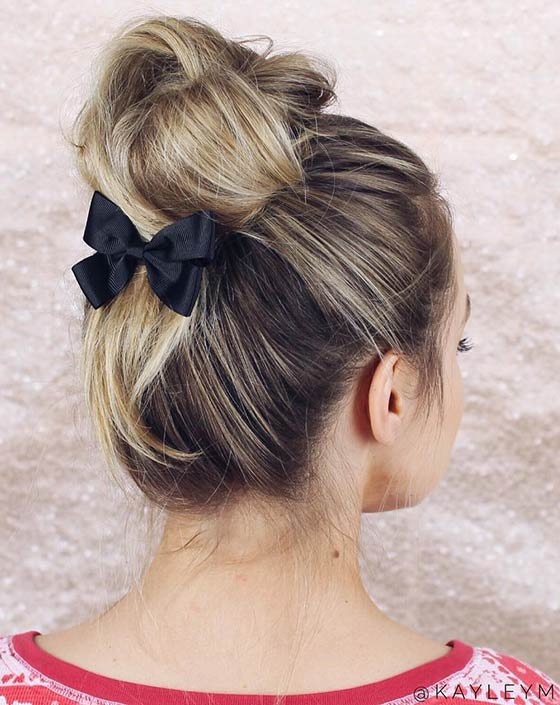 11.-Incomplete-Top-Knot-With-A-Cute-Bow