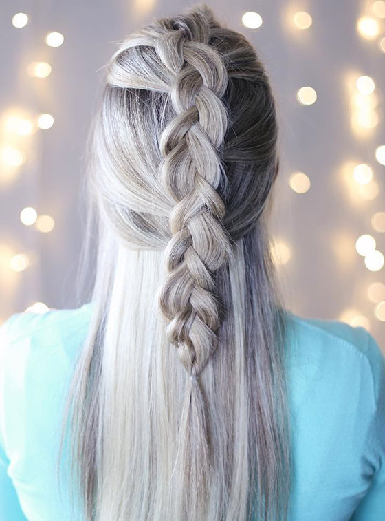 Half-Dutch-Braid