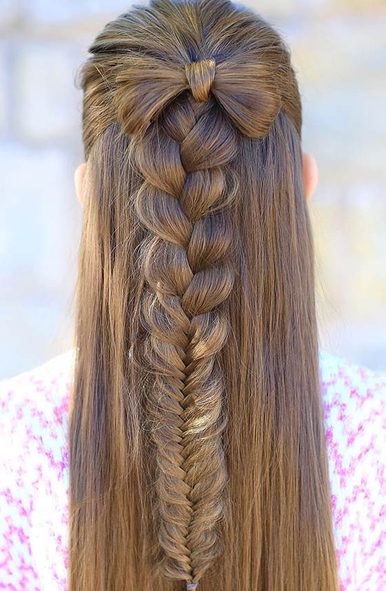 Mixed-Braid-Topped-With-A-Bow