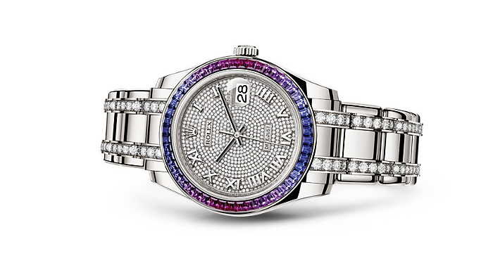 Best Rolex Watches For Women: Pearlmaster 39 - White Gold Strap And Diamond Paved Dial