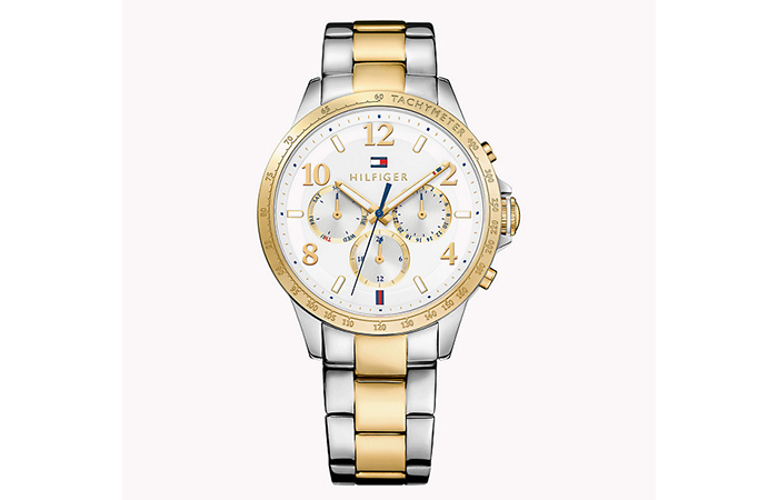 Tommy Hilfiger Watches For Women - 11. Gold And Silver Bold Faced Watch