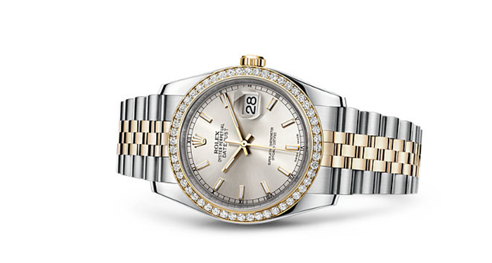 Best Rolex Watches For Women: Datejust 36 - Yellow Rolesor Strap And Silver Dial