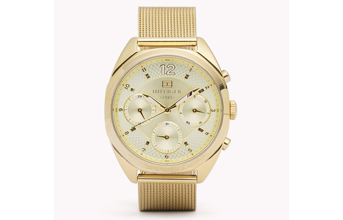 Tommy Hilfiger Watches For Women - 12. Gold Mesh Strap Watch