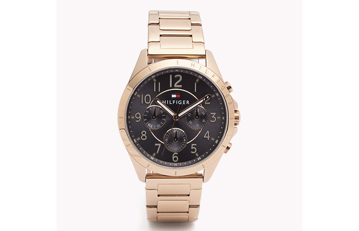 Tommy Hilfiger Watches For Women - 13. Rose Gold And Black Watch